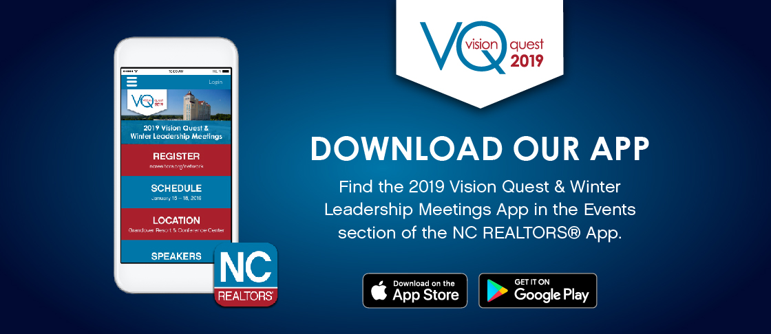 2019 Vision Quest/Winter Leadership Meetings Download Our App Resources Header