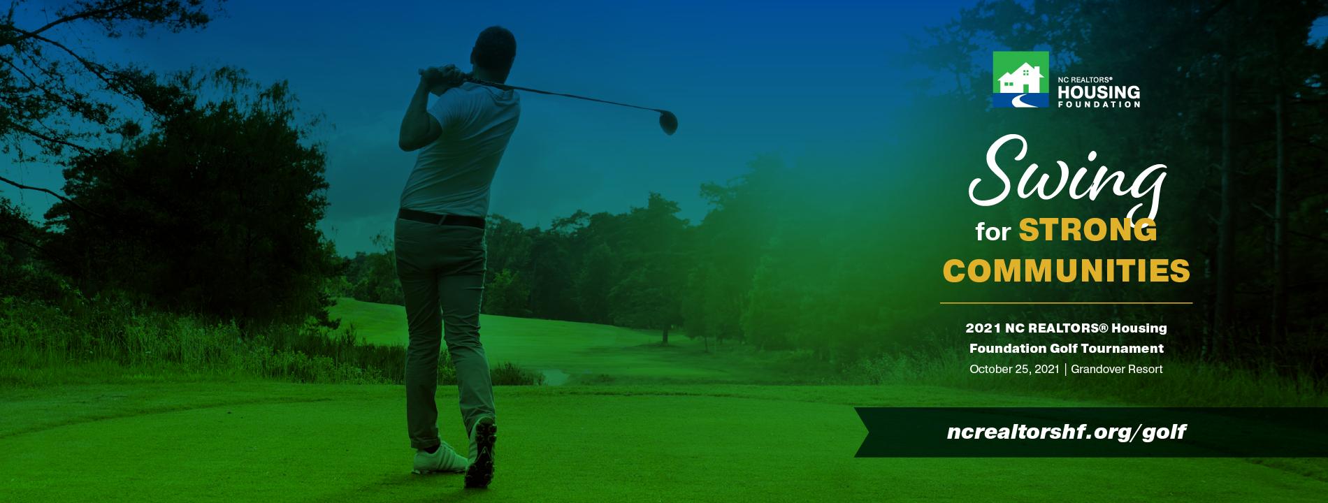2021 Golf Tournament Swing Website Slider