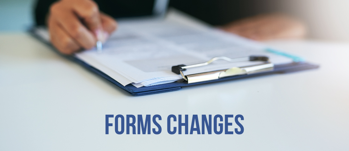 Forms Changes Resources Header
