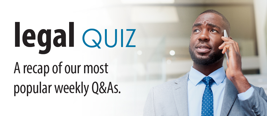 August 2019 Insight: Legal Quiz Resources Header
