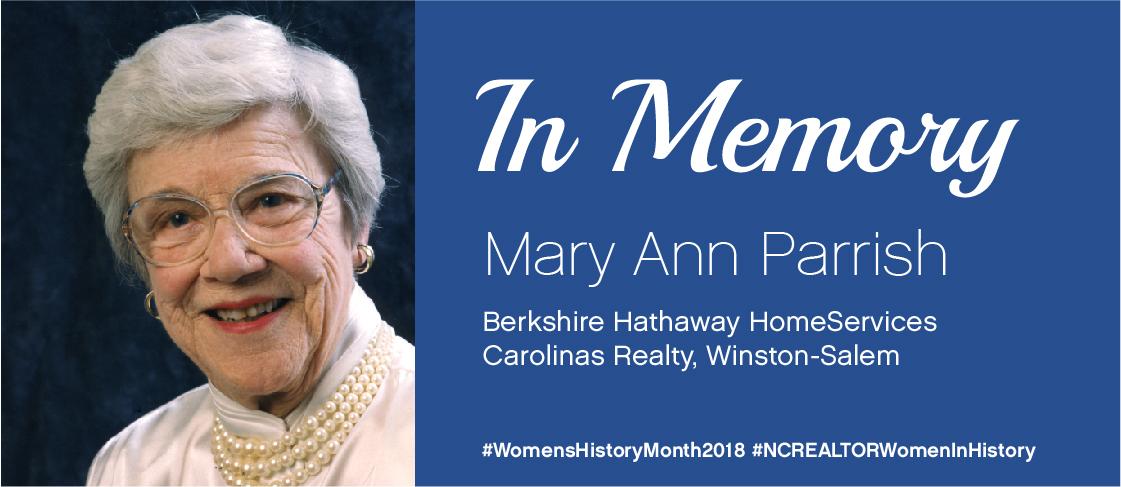 National Women's History Month Spotlight: Mary Ann Parrish