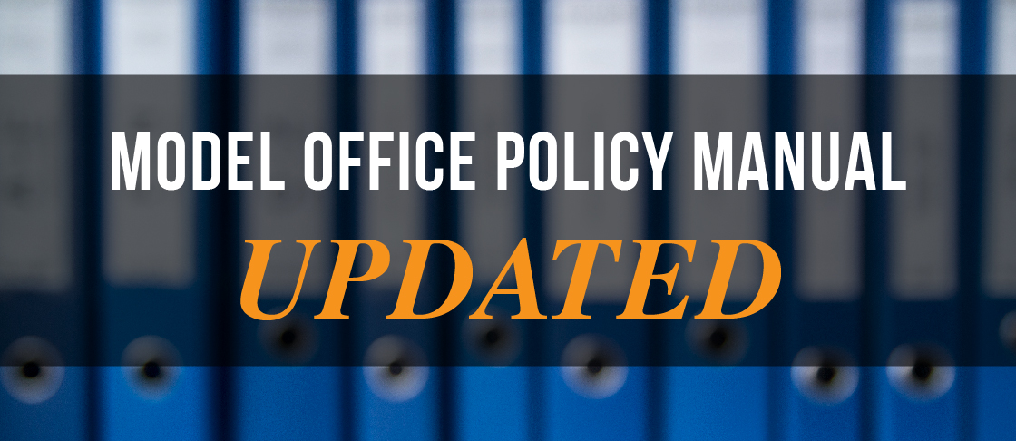 Model Office Policy Manual Updated