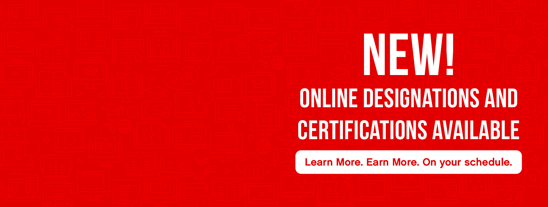 Online Designations and Certifications Website Slider