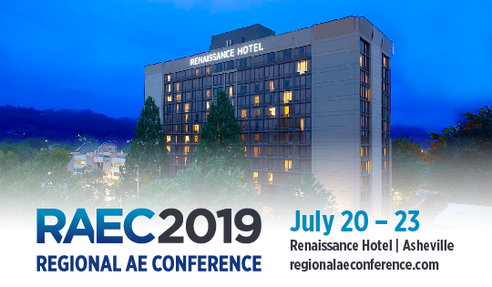 Regional AE Conference 2019 July 20 – 23 Renaissance Hotel Asheville regionalaeconference.com