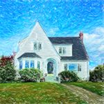 Crayon Drawing of Small White House